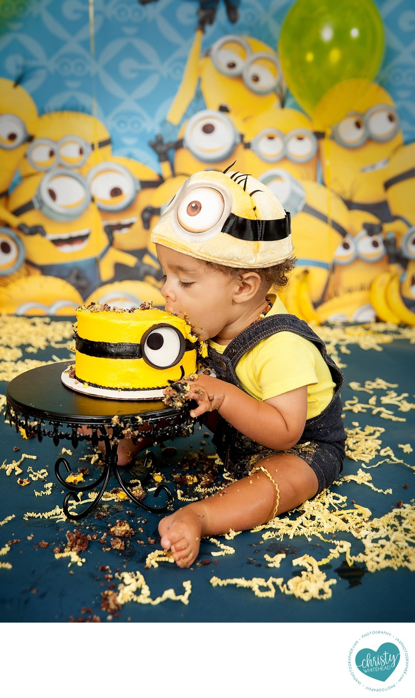 Minions Cake Photo Shoot Jacksonville Photography