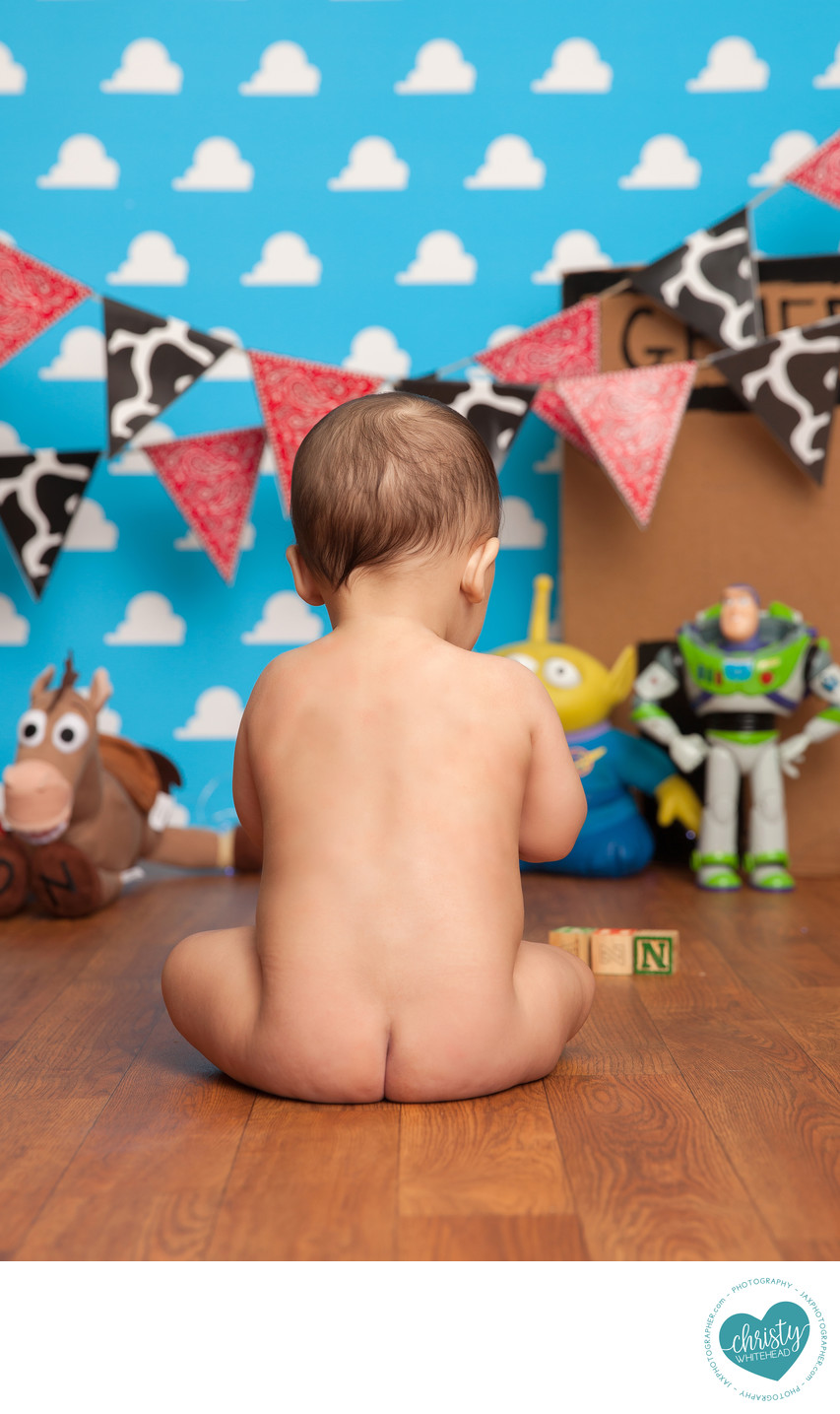 Little Baby Photo Shoot Toy Story Themed
