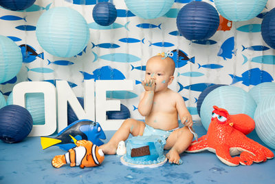 Baby Boy With Nemo And Dory Cake Smash JAX Florida