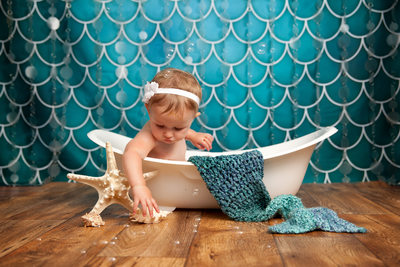 Sweet mermaid bath session