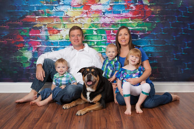 Family Photo Shoot With Their Dog Jacksonville Florida