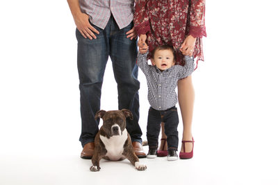 Family Photo shoot With Their Dog  Duval County