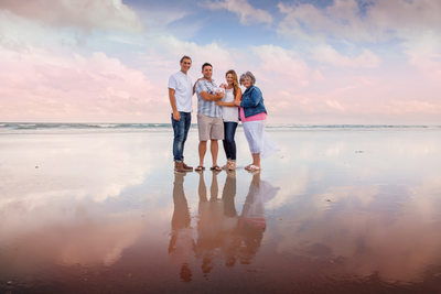 Family Photo Shoot In The Ocean Jacksonville