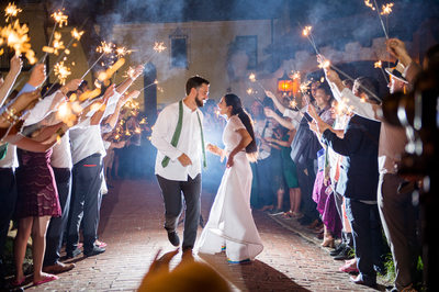 Dancing through sparkler exit