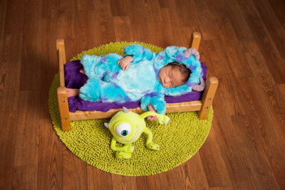 Little Monster Newborn Photo Shoot Jacksonville