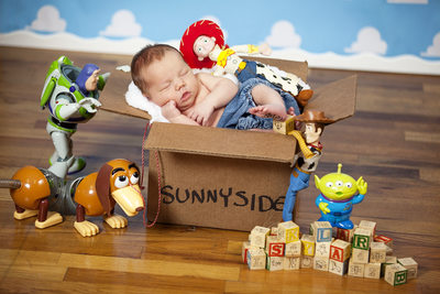Toy Story Newborn Photography Jacksonville