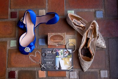 invitations, ring box, jewelry, shoes and rings