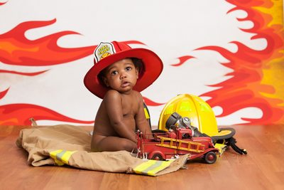 Baby Firefighter photo shoot JAX Photography