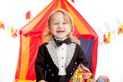 Boy Photo Shoot Circus Themed JAX Photography