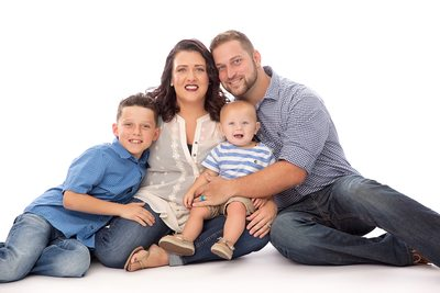 Family Photo in Studio Christy Whitehead Photography