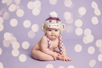 Newborn Girl With  A Hat Christy Whitehead Photography