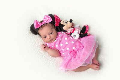 Little Minnie Mouse Newborn Photo Shoot JAX