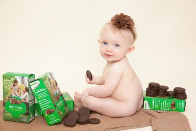 Baby Girl With Cookies Photo Shoot JAX