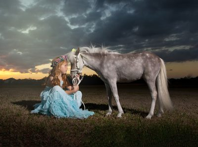 Little Girl With the horse Christy Whitehead