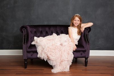 Princess Dress Sitting In A Chair JAX Florida