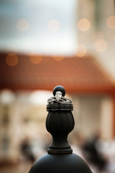 Gorgeous rings photo with bokeh