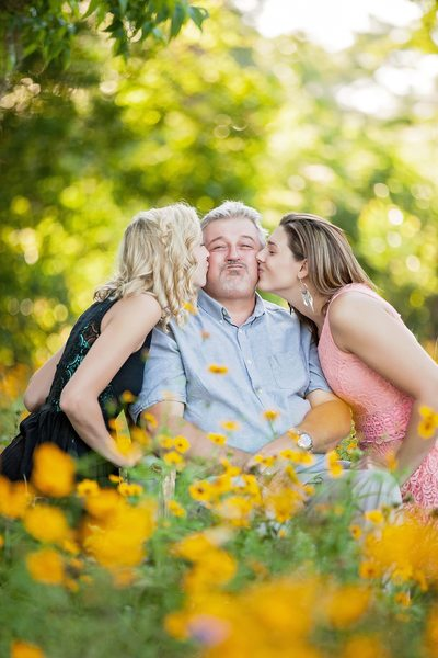 Grandpa With Granddaughters Photo Shoot Jacksonville
