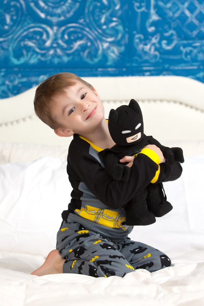 Little Boy Dressed as Batman Photo Shoot JAX