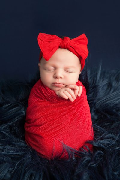 Baby Girl With A Red Outfit Photo Shoot Jacksonville