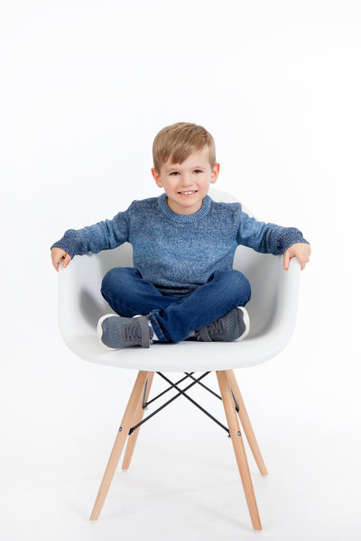 Little Boy Sitting in A Chair JAX Florida Photography