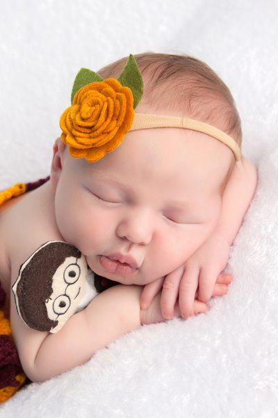 Baby Girl Sleeping While Photo Shoot JAX