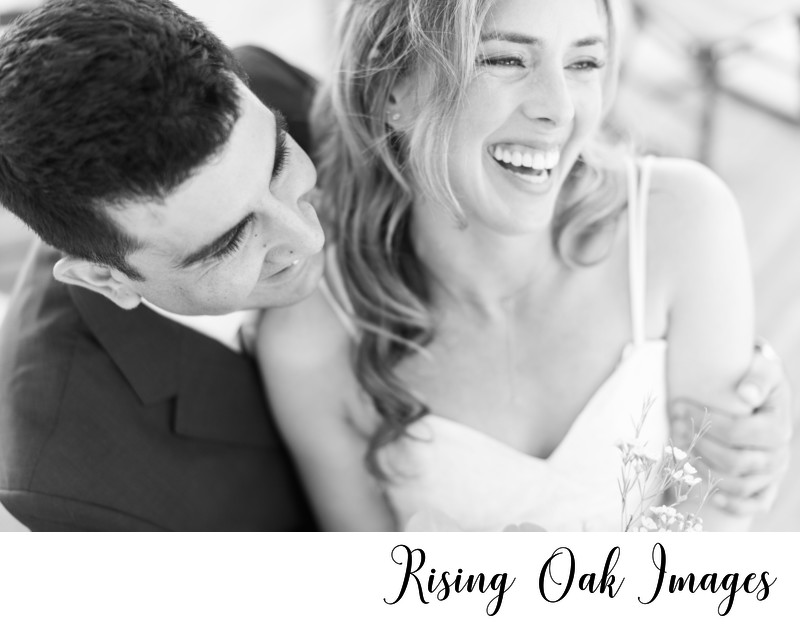 Texas Bride and Groom laugh together