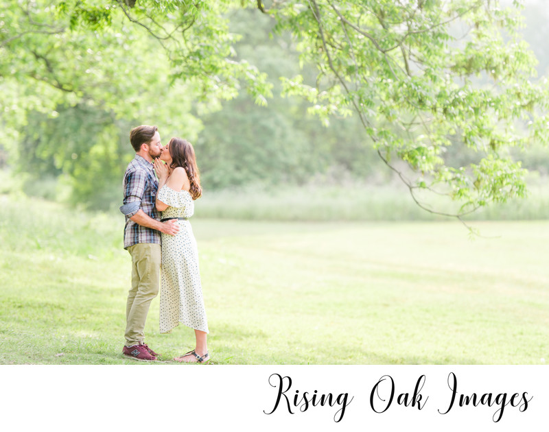 Commons Ford Ranch Park engagement session in Spring
