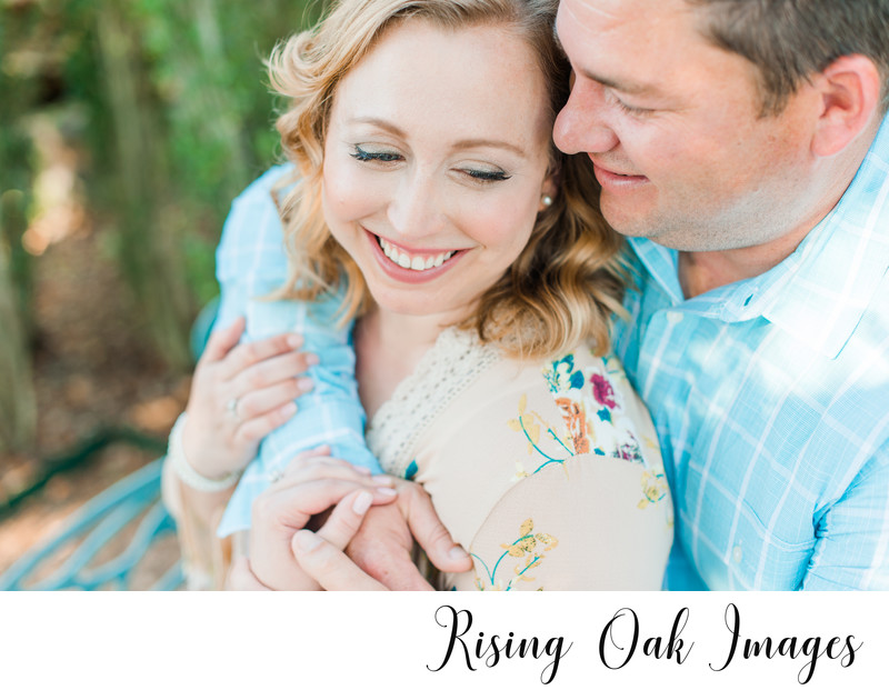 Engagement session at ladybird johnson wildflower