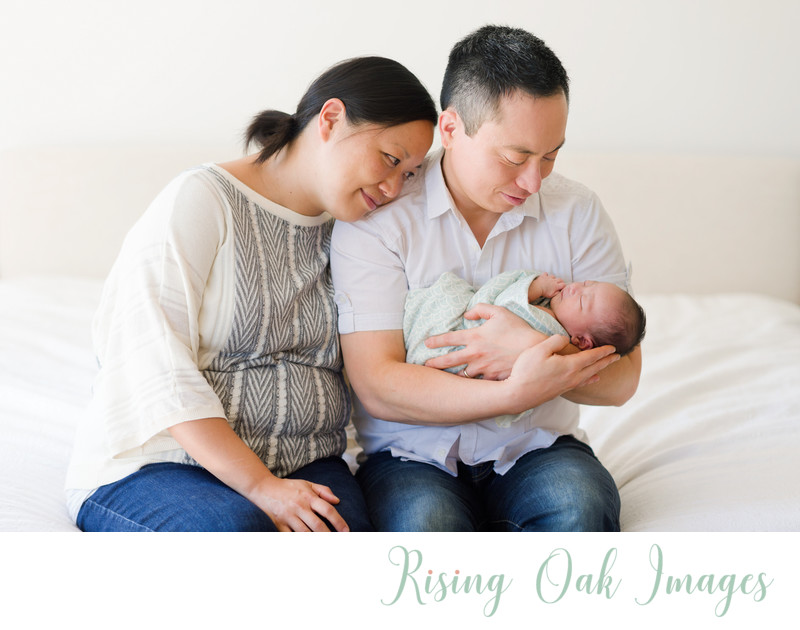 Austin in home lifestyle newborn session