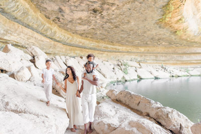 Dripping Springs Hamilton Pool family photography