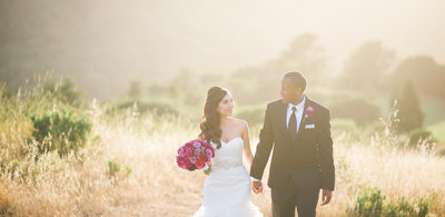 Austin couple sunset wedding portraits hill country