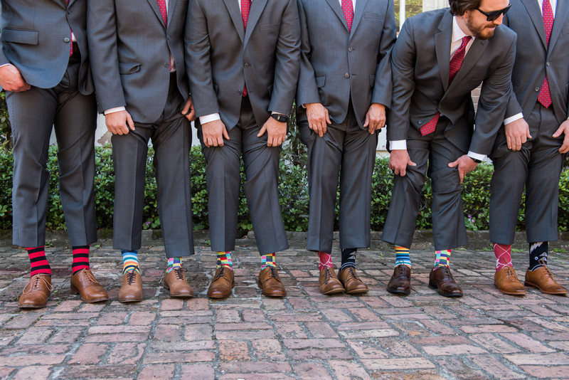 Groomsmen at Ezell House in Mobile Alabama