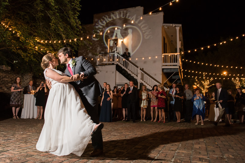 First Dance in Courtyard at Ezell House in Mobile AL