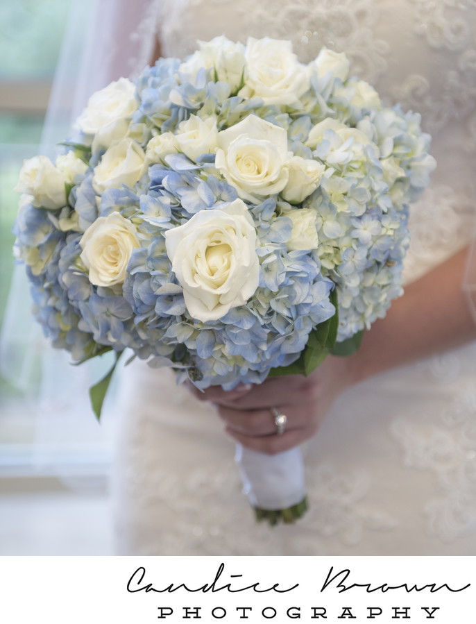 Bride Bouquet Blue Hydrangea Citronelle Community Weddings