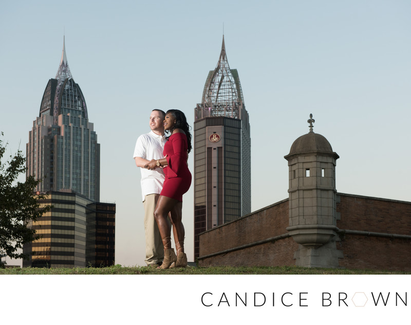 Downtown Mobile Alabama Engagement Photographer