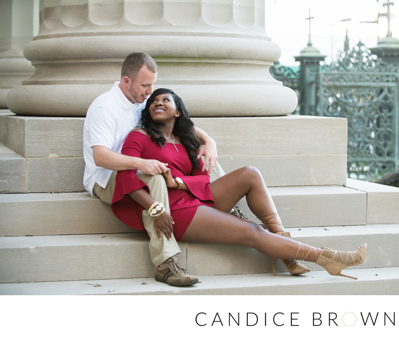 Cathedral Square Engagement Session Mobile Alabama