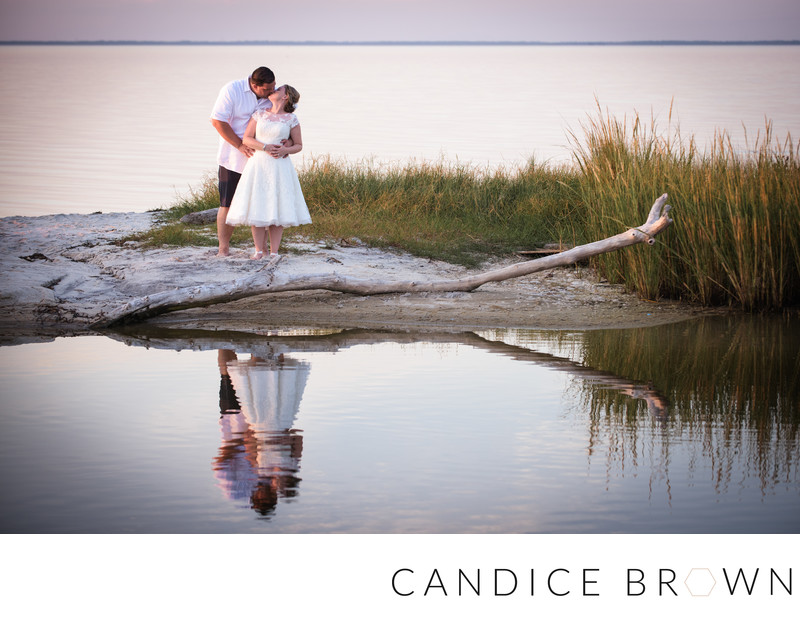 Newlyweds on Beach- Orange Beach Wedding Photographer