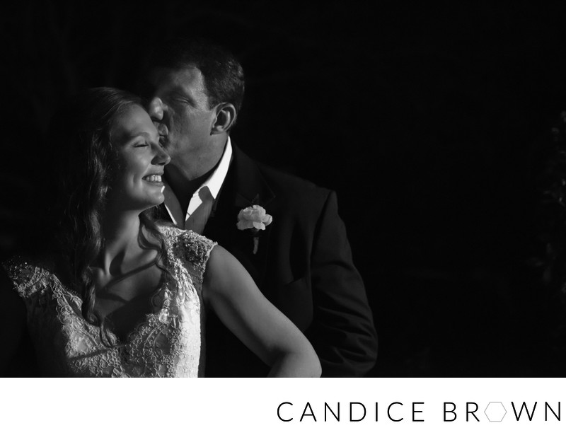 Bride and Groom Night Portrait at Rock Creek Golf Club
