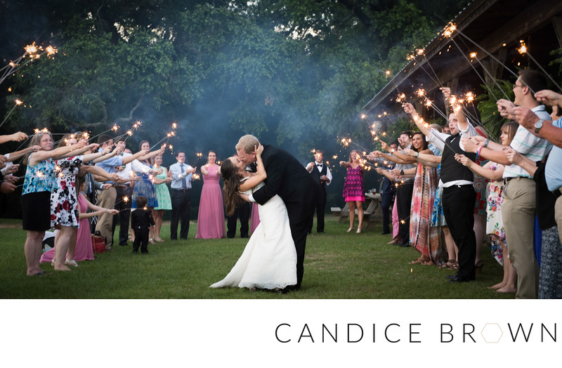 Oak Hollow Sparkler Exit Candice brown photography