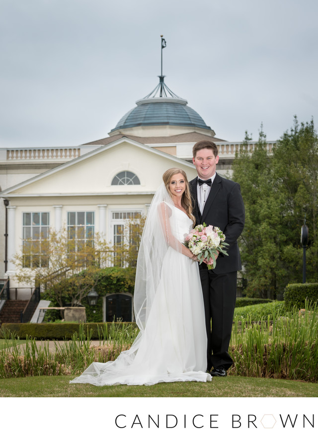 Portrait of Bride and Groom at Old Waverly Golf Club