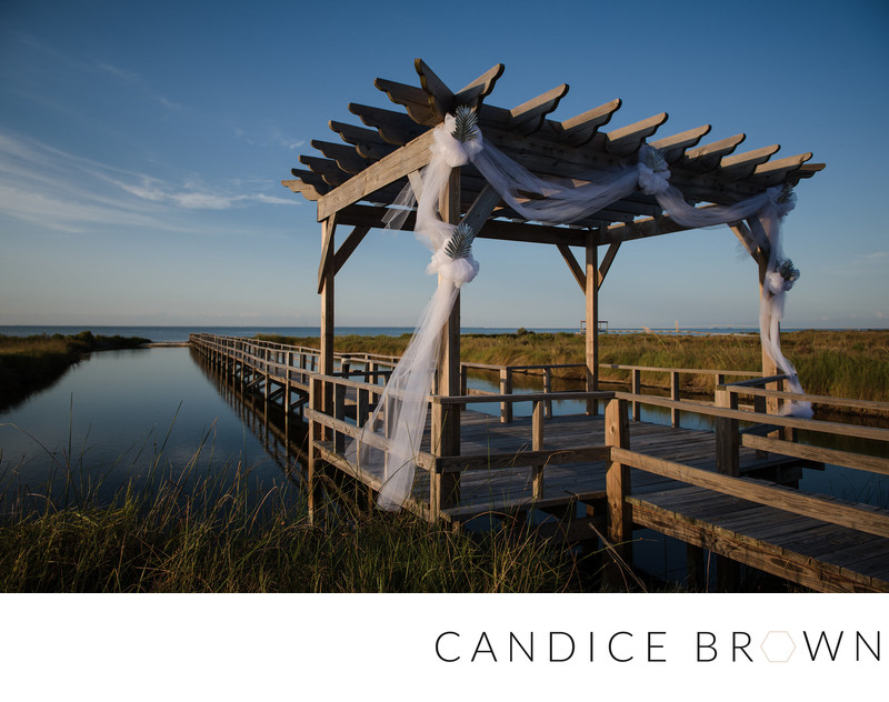 Beach Wedding Arbor - Candice Brown Photography Wedding