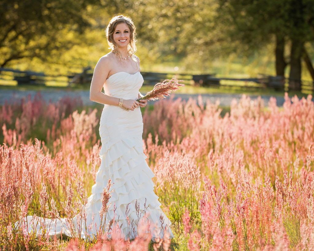 Fairhope AL Bride in Field - Bridal Portraits