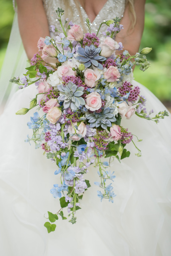 Bride Bouquet Pink Blue Purple Gorgeous