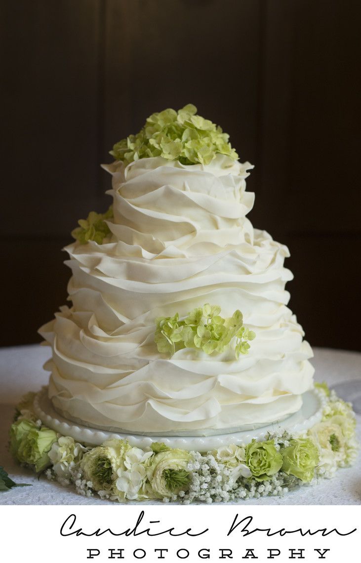 Bride's Cake in Window Light at Birmingham Wedding