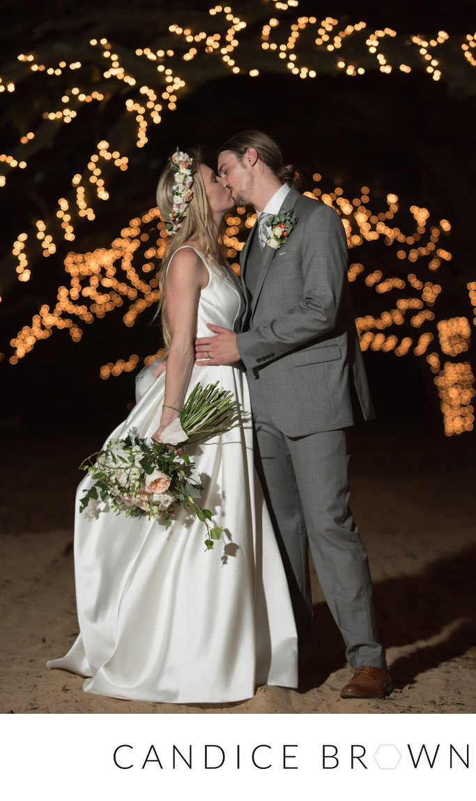 Kiss Under the Stars at Oak Hollow Farm Wedding