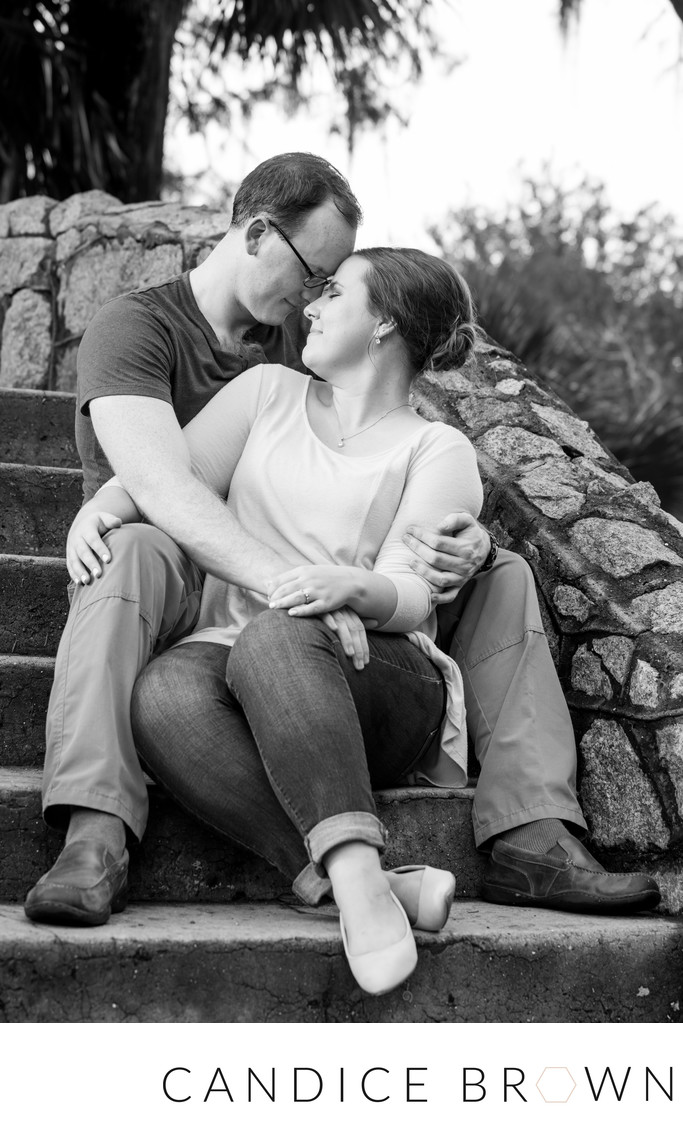 engaged couple at city park- new orleans photographer