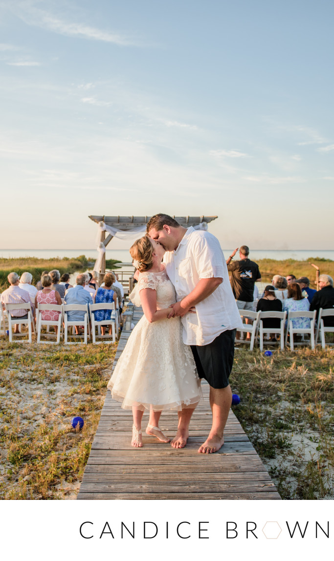 Ceremony Exit Dauphin Island Beach Wedding