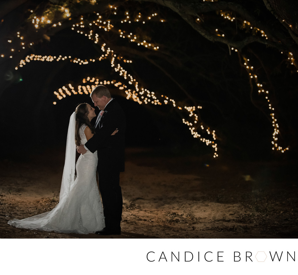Oak Hollow Farm Nighttime Wedding Photographer