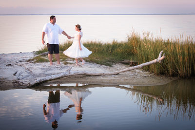 Bride and Groom Dance at Beach Wedding - Orange Beach