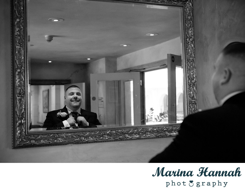 Groom portrait before the wedding at Nailcote Hall